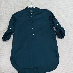 Midnight blue cotton blouse